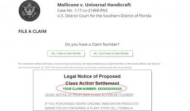 Adore Class Action Lawsuit