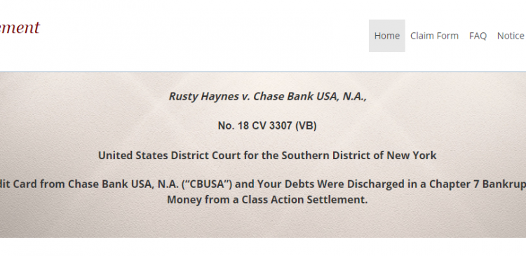 File Your Claim in the Matter of $11.5 Million Chase Bank Lawsuit