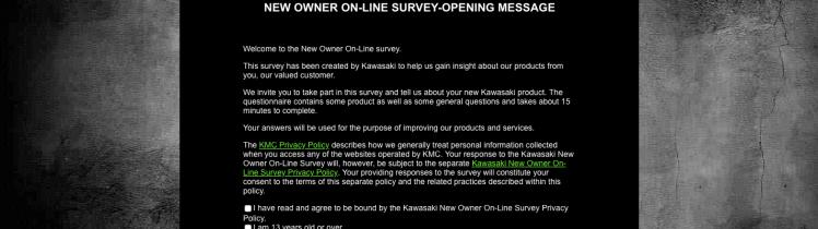 Kawasaki Owner's Survey