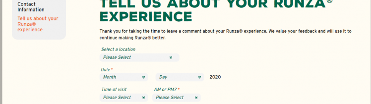 Runza Survey 2020