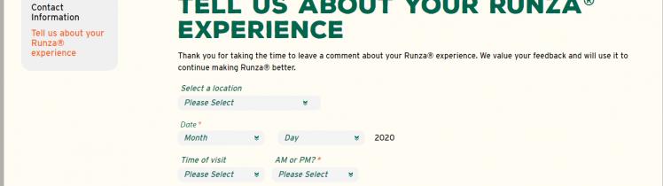 Runza Survey 2020
