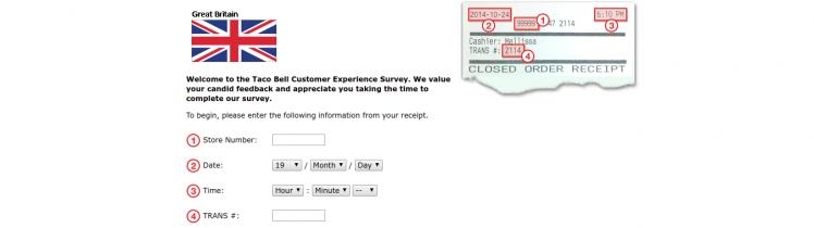 Taco Bell Uk Survey Logo