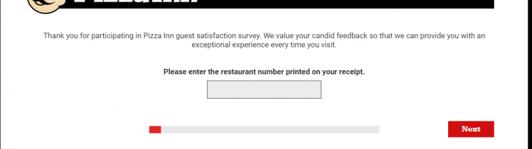 Take Pizza Inn Guest Survey