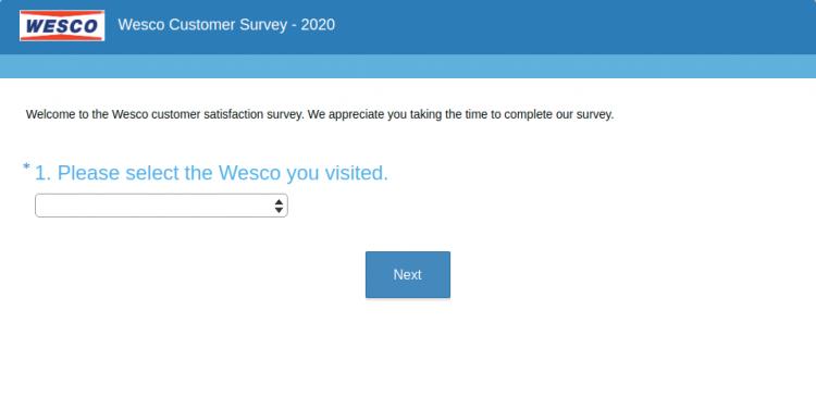 Wesco Customer Survey logo