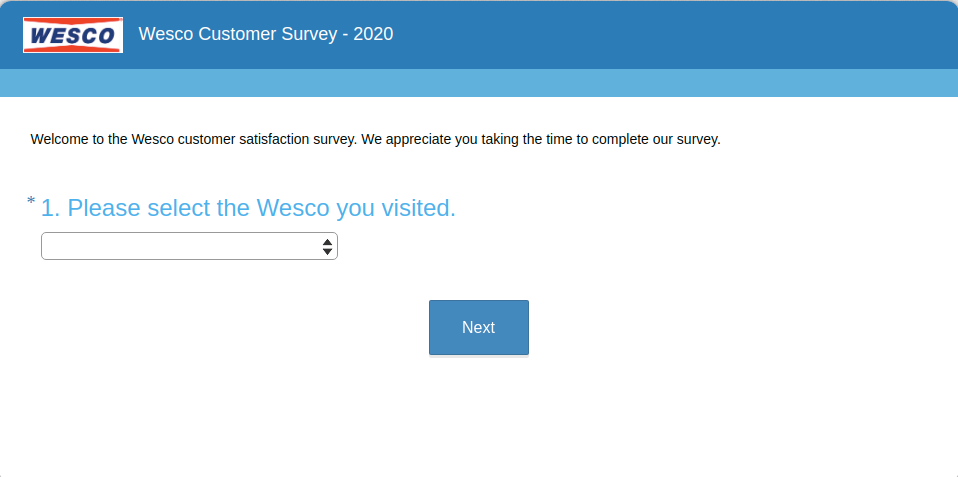 Wesco Customer Survey
