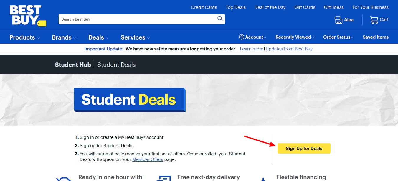 best buy student Sign Up