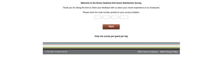 devon seafood grill survey logo