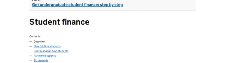 direct gov student finance logo