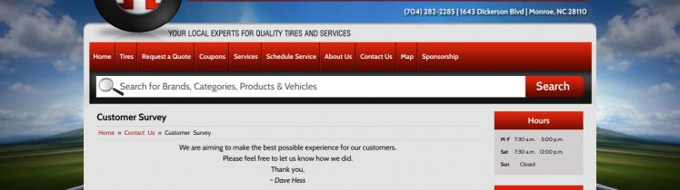 hess tire & automotive survey logo