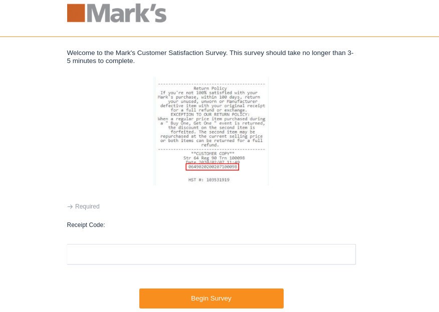 mark survey