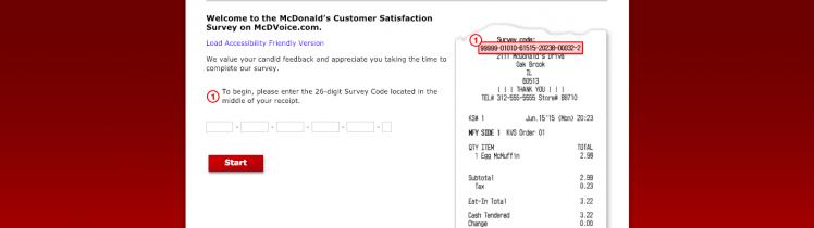 mcdonalds customer survey
