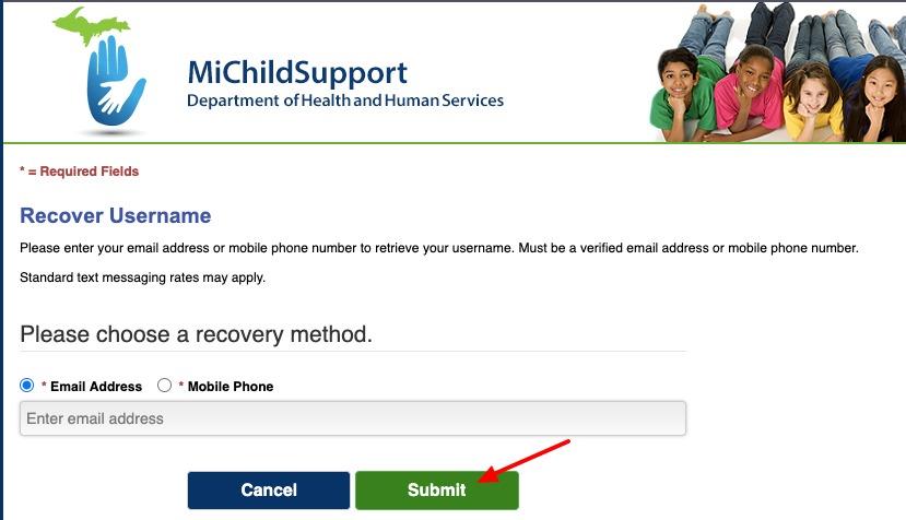 miChildSupport forgot