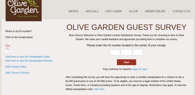 olive garden survey logo