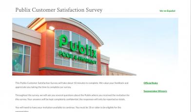 publix survey logo