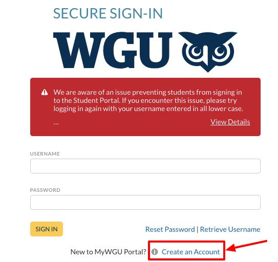 wgu sign in