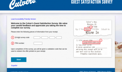 Culvers Guest Satisfaction Survey