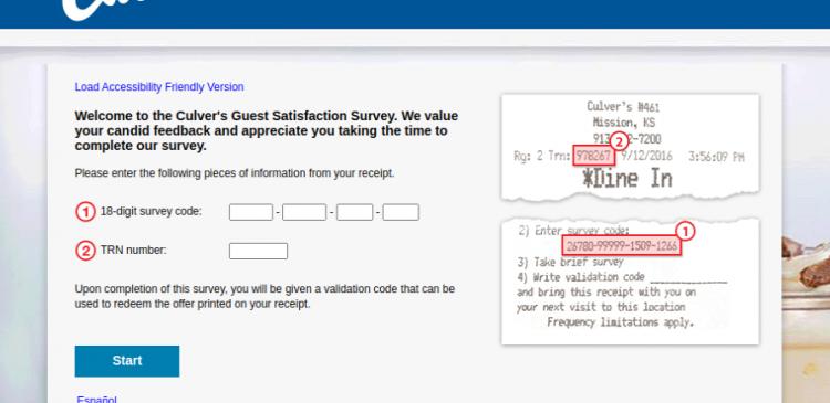 Culvers Guest Satisfaction Survey