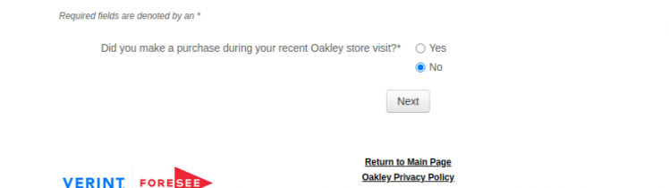Oakley Survey
