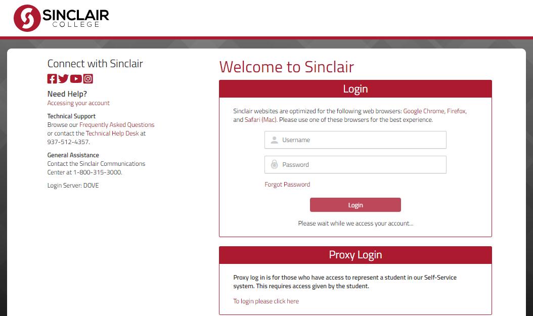 Sinclair Portal Login